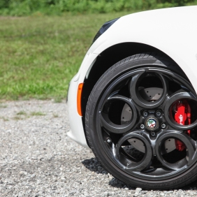8C inspired rims cover supremely capable brakes